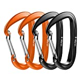 B-Mardi Ultra Sturdy Carabiner Clips,4 Pack, Certified 12KN (2697 lbs) Heavy Duty Caribeaners for Hammocks, Camping,Hiking, Swing, Locking Dog Leash and Harness, Outdoor,Hiking & Utility