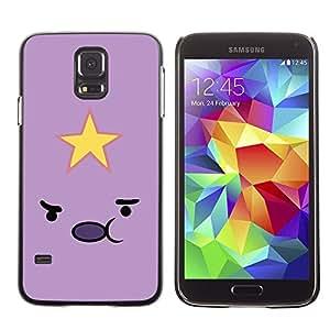 Be Good Phone Accessory // Dura Cáscara cubierta Protectora Caso Carcasa Funda de Protección para Samsung Galaxy S5 SM-G900 // Emoticon Pink Yellow Face Cartoon