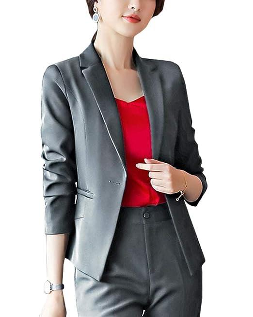 Mujer Blazer Abrigo Elegante Casual Cardigans Chaqueta Traje ...