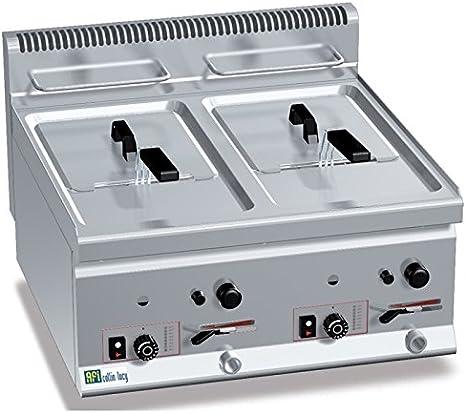 Freidora Gas profesional de mesa disponible 1 o 2 senos – 1 cubeta ...