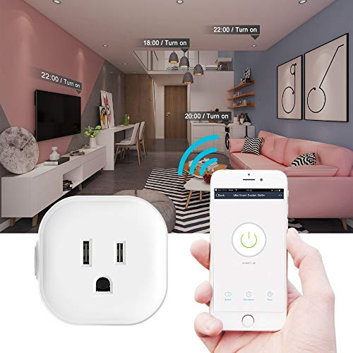 Igreli mini smart plug,Remote Control wifi Outlet with Timing Function and no hub required, Works with Alexa and Google Assistant,- 1 Pack by Igreli (Image #4)