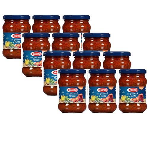 Barilla Sun-Dried Tomato Pasta Pesto Sauce and Spread, 6-oz Jar (Pack of 12)