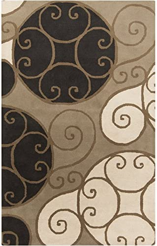 Surya Athena ATH-5111 Contemporary Hand Tufted 100 Wool Brindle 9 x 12 Geometric Area Rug