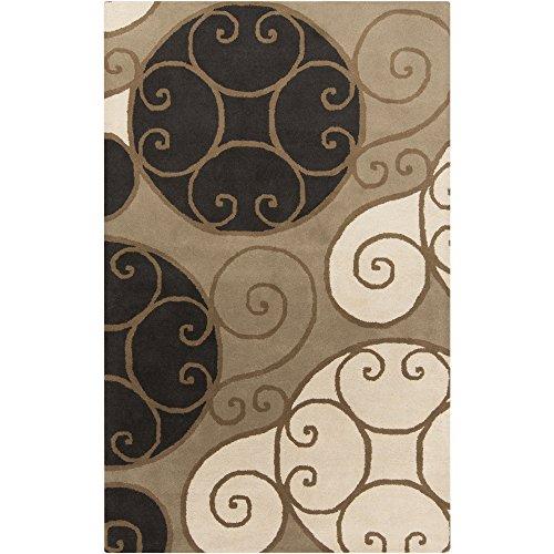 Surya Athena ATH-5111 Contemporary Hand Tufted 100 Wool Brindle 5 x 8 Geometric Area Rug