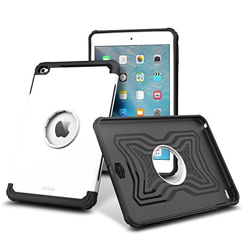 iPad Mini 4 Case, roocase [Exec Tough] Orb System iPad Mini 4 Slim Fit Case Hybrid PC / TPU [Corner Protection] Armor Cover Case for Apple iPad Mini 4 (2015), Arctic White - Arctic White Cover