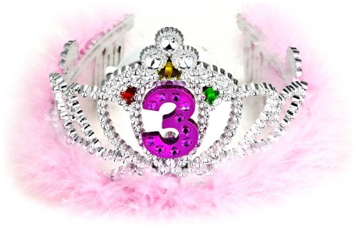 [Forum Novelties 3rd Birthday Flashing Tiara] (Princess Birthday Girl Tiara)