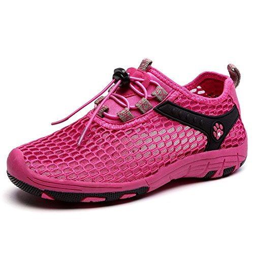EnllerviiD Women Mesh Slip On Quick Dry Water Shoes Casual Seaside Beach Shoes 532 Rose uliRgu