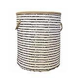 Storage Baskets,cotton Foldable Laundry Hamper Laundry Bag Blue Stripes Deal