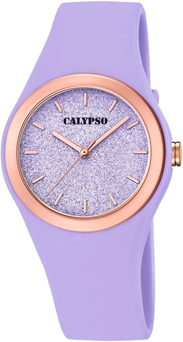 Calypso Watches Reloj Analógico para Mujer de Cuarzo con Correa en Plástico K5755/2