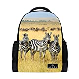 My Daily Zebra In Africa Backpack 14 Inch Laptop Daypack Bookbag for Travel College School