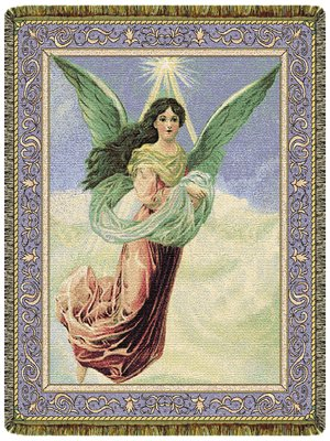 Heavenly Angel 50'' x 70'' Tapestry Throw Blanket USA Made by Simply Home