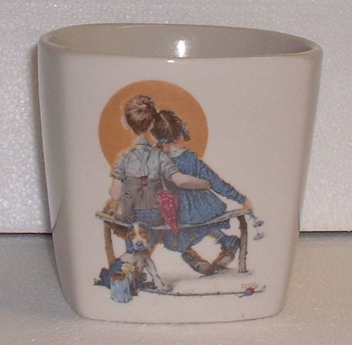 Norman Rockwell Twos Company Limited Edition Planter
