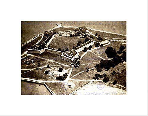 - Vintage Castle Island Boston Star Fort Independence Art Print B12X3447