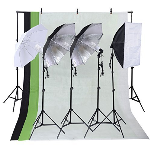 Giantex Photo Studio Photography Kit 4 Light Bulb Umbrella M
