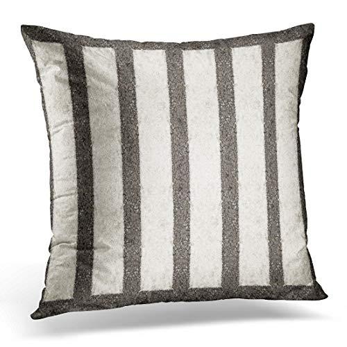 (Emvency Throw Pillow Cover Zebra Black Cross Crosswalk Top View Gray Street Sign Decorative Pillow Case Home Decor Square 18