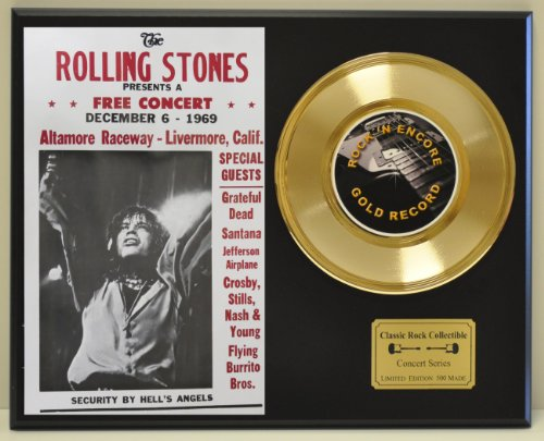 ROLLING STONES Limited Edition Gold 45 Record Display. Only 500 made. Limited quanities. FREE US SHIPPING ()