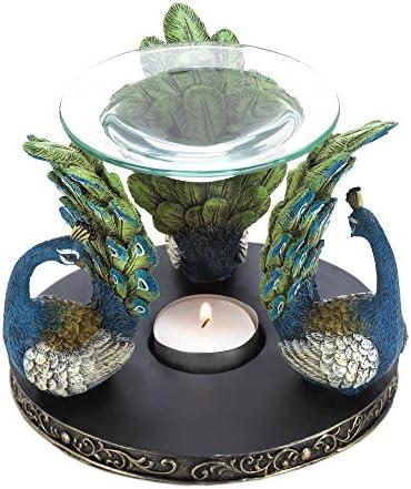 Smart Living Company Peacock Plume Oil Warmer Aromatherapy Fragrance Diffuser Home Decor
