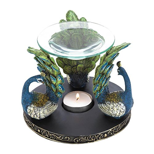 Peacock Plume Oil Warmer Home Decor Oil Lamp Accessories Home Decorative Items Collectibles Figurines Accessories and Gifts (Home Item Decorative)