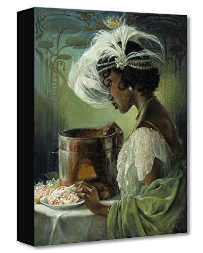 Disney Fine Art Dig a Little Deeper by Heather Theurer Treasures on Canvas Princess and The Frog Tiana Reproduction Gallery Wrapped Canvas Wall (Fine Arts Canvas Painting)