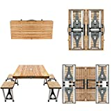 BIGTREE Portable Foldable Camping Picnic Table with