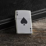 Personalized Ace of Spade Genuine Zippo Lighter - Free Engraving by Forevergifts