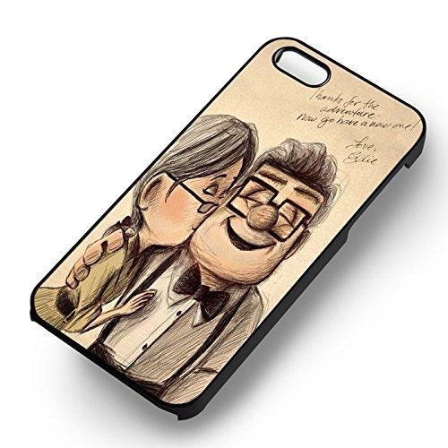 Up Disney Pixar Carl et Ellie pour Coque Iphone 6 et Coque Iphone 6s Case (Noir Boîtier en plastique dur) P1C3FJ