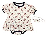 San Diego Padres MLB Baby Girls Infant Dress with Headband Set , White