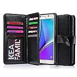 Galaxy Note 5 Case, Jwest 9 Card Slot Folio Luxury Samsung Galaxy Note 5 Wallet Case Flip Premium Protective Case Wallet PU Leather Case for Samsung Galaxy Note 5 Black
