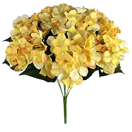 Flowers For - Real Touch Artificial Mini Cloth Hydrangea 7 Heads European Style Party Flowers Wedding Office - Front Runner Door Room Shelf Site Projects Pitcher Nail Earring Fresh ()