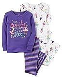 Carter's Girls' 4-12 4 Piece Ballerina Snug Fit Cotton Pajamas 8