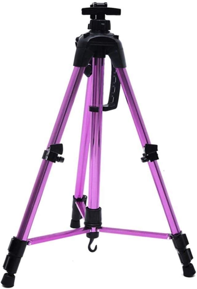 TONGSH 補強された芸術家のイーゼルの立場、床/テーブルの上のデッサンおよび表示のための余分厚いアルミニウム金属の三脚の表示イーゼル調節可能な高さ (Color : Purple)