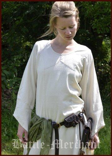 Wikingerkleid Mittelalterkleid Neira Battle Larpkleid Kleid Mittelalterliches Merchant natur XY4pzY