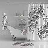 Calypso Fish Shower Curtain iPrint Bathroom 4 Piece Set Shower Curtain Floor mat Bath Towel 3D Print,Fish House of Water Element Sensitivity Planet,Fashion Personality Customization adds Color to Your Bathroom.