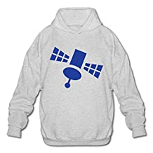 Men's Artificial Satellite Hooded Sweatshirt Ash