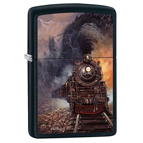 Zippo Blaylock Painting Train Lighter Custom Made