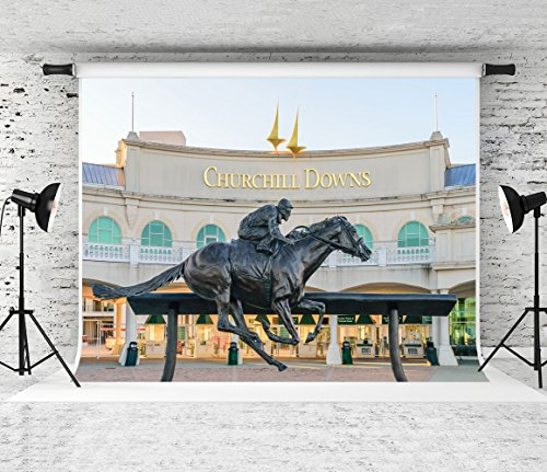 Kate 7x5ft Statue Photography Background Kentucky Derby Horse