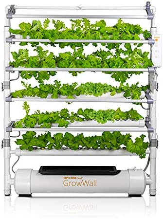 Amazon Com Opcom Farm Growwall 75 Pot Vertical Hydroponic Growing System All Year Round Indoor Farming Height And Angle Adjustable Led Lights With Starter Kit Included Garden Outdoor