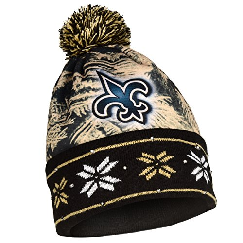d3b63d5f9 New Orleans Saints Big Logo Light Up Beanie – Football Theme Hats