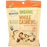 Woodstock Organic Whole Roasted & Salted Cashews #180 8 oz. (Pack of 8)