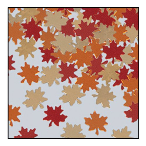 Fanci-Fetti Autumn Leaves (copper, gold, red) Party Accessory  (1 count) (1 Oz/Pkg)]()