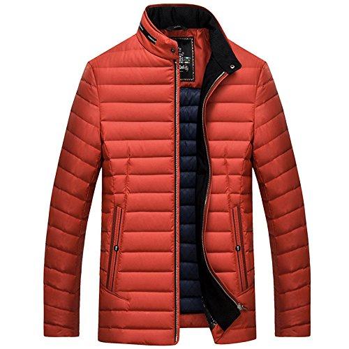 Luotianlang Il Cappotto Collare Arancione Bianco Giacca Basso Verso Qualità Invernale Maschile Moda Casuale BUU7CF
