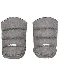 7 A.M. Enfant Warmmuffs Stroller Gloves-Heather Grey Fleece Lining by 7A.M. Enfant