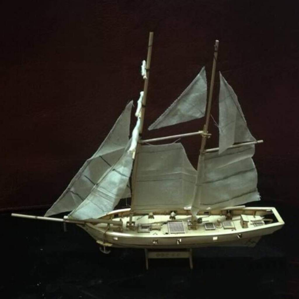 Homyl Modelo Velero Barco Vela de Madera Juguete Kits para DIY Bricolaje Montar Ensamblar - Halcon Baltimore Schooner