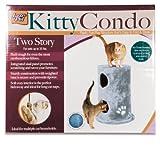 Lazy Pet Plush Double Cat Condo, Blue, My Pet Supplies