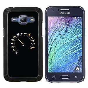 TECHCASE---Cubierta de la caja de protección para la piel dura ** Samsung Galaxy J1 J100 ** --Animal velocidad Velocímetro