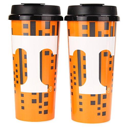 (Whirley Drink Works NCAA Digital Plastic 16oz Travel Mug 2 Pack (Tennessee Volunteers))