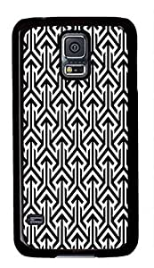 Samsung Galaxy S5wskshop caso, personalizado fresco blanco y negro Chevron girds plástico Funda para Samsung Galaxy S5
