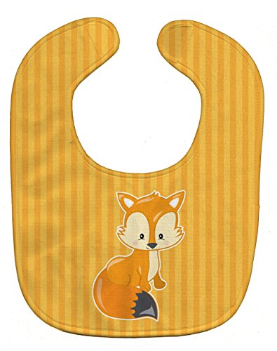 Caroline's Treasures Fox Baby Bib, Orange, Large