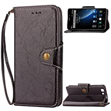 Doogee X5 Case,Doogee X5 PRO Case,Gift_Source [Card Slots] [Kickstand] Flip Folio Wallet Case PU Leather Cover Scratch Resistant Case Metal Buckle and Wrist Strap for Doogee X5/X5 PRO 5.0 inch [Black]