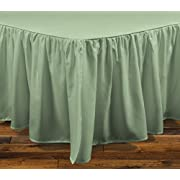 Brielle Essentials Bedskirt, Queen, Sage